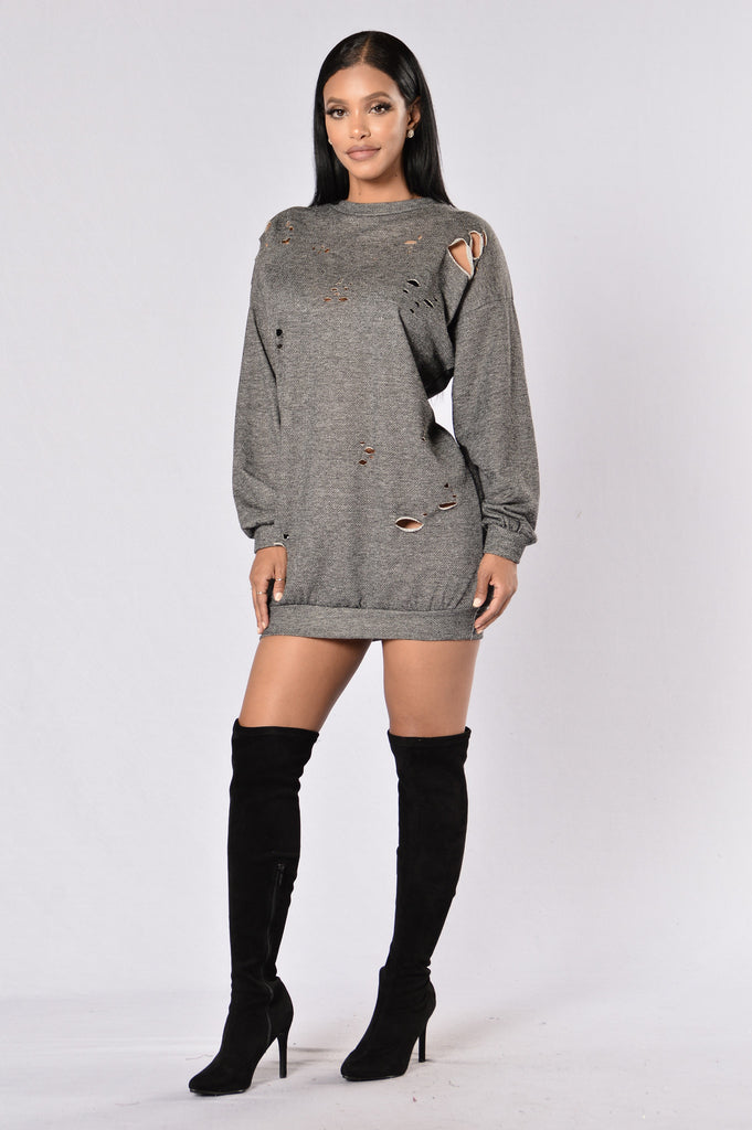 On The Fritz Tunic - Charcoal