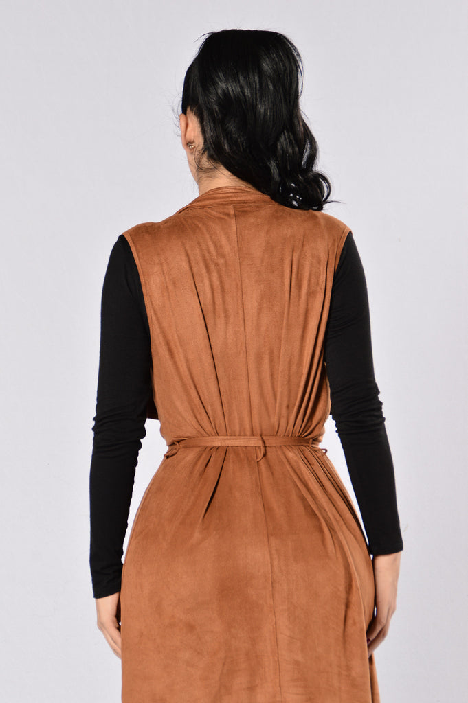 Lovely Day Vest - Camel