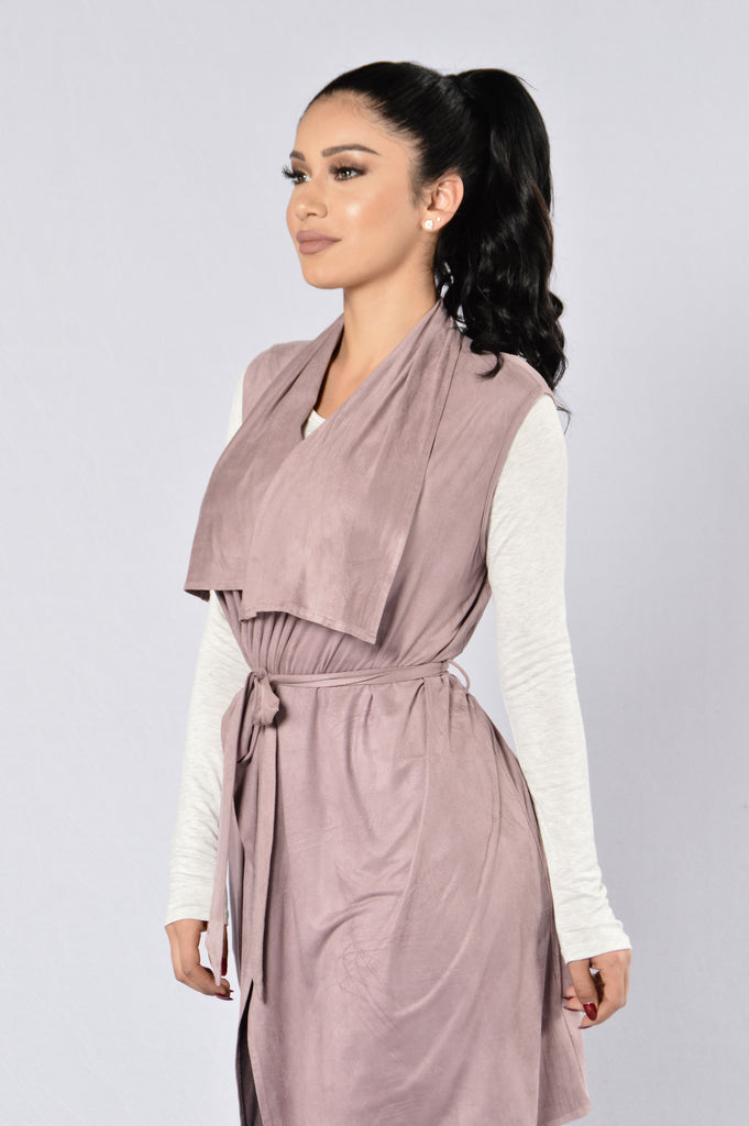 Lovely Day Vest - Mauve