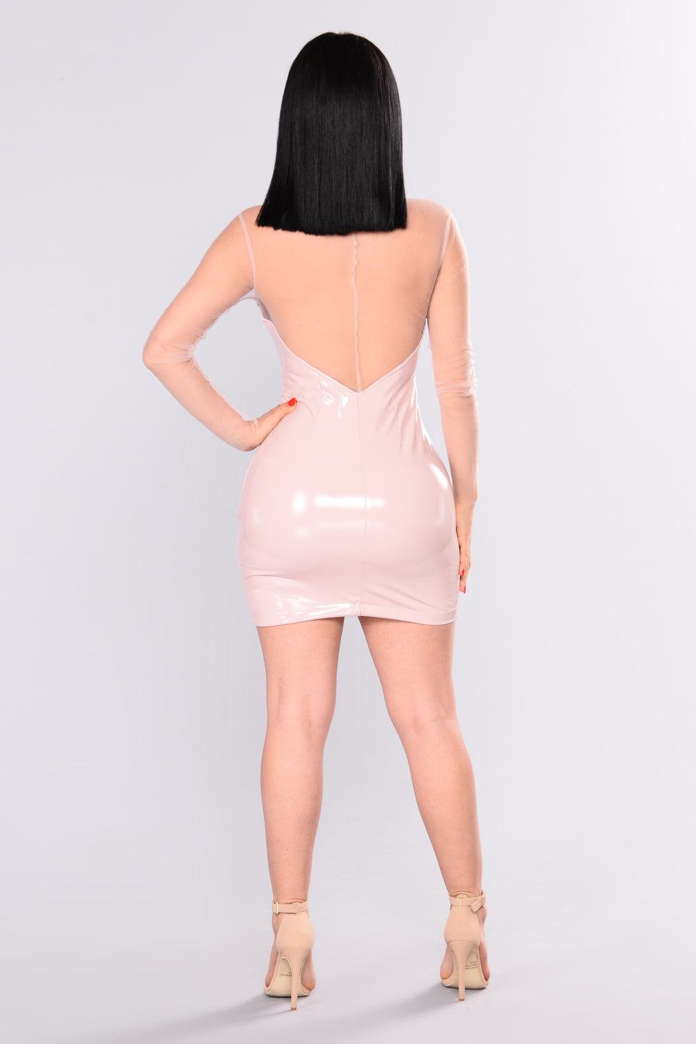 Make Your Mark Latex Dress - Pink