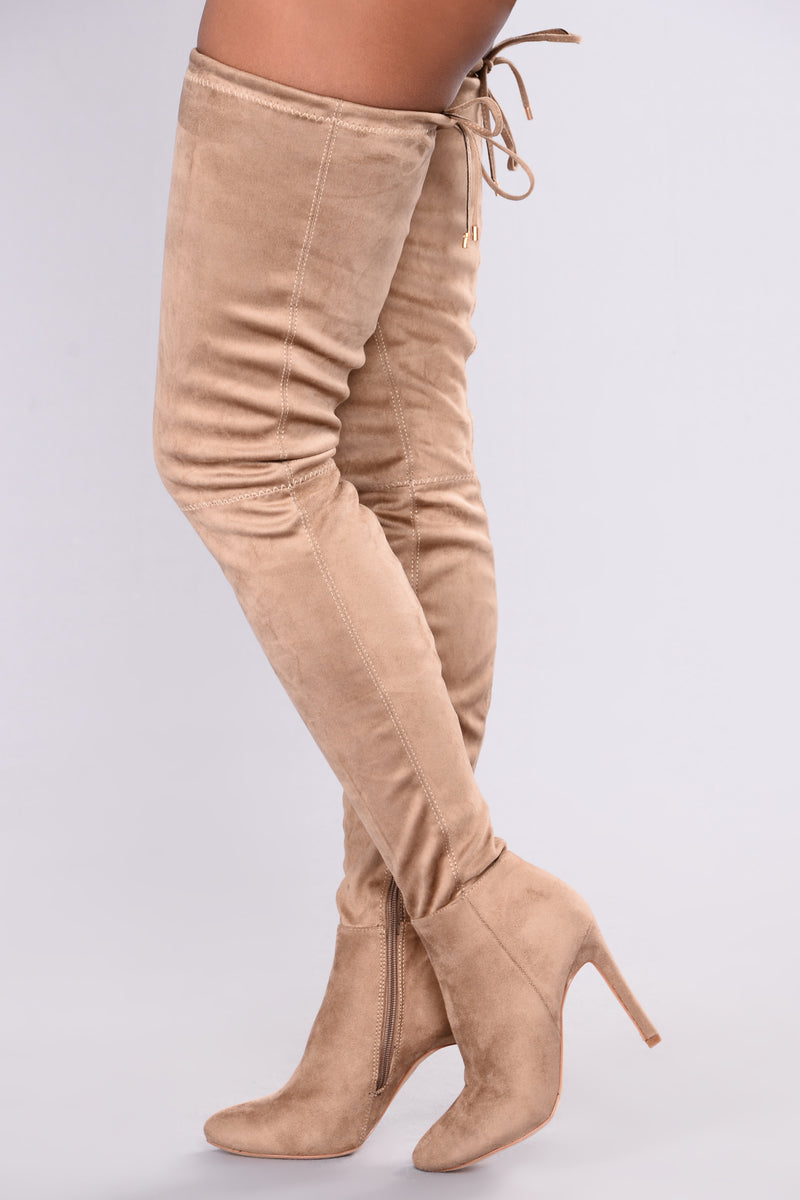 A Tall Tale Over The Knee Boot - Taupe