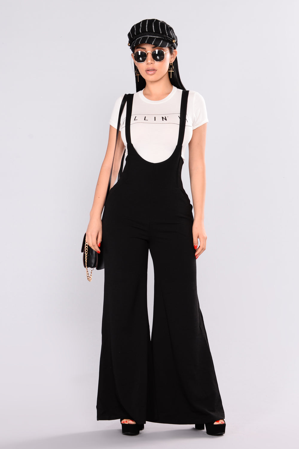 High Points Overall Palazzo Pants - Black