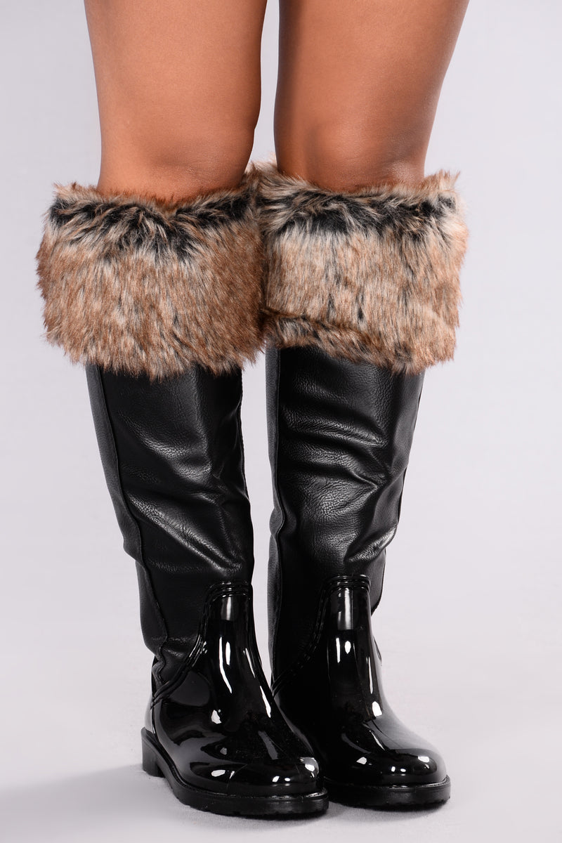 Everyday Fur Boot - Black