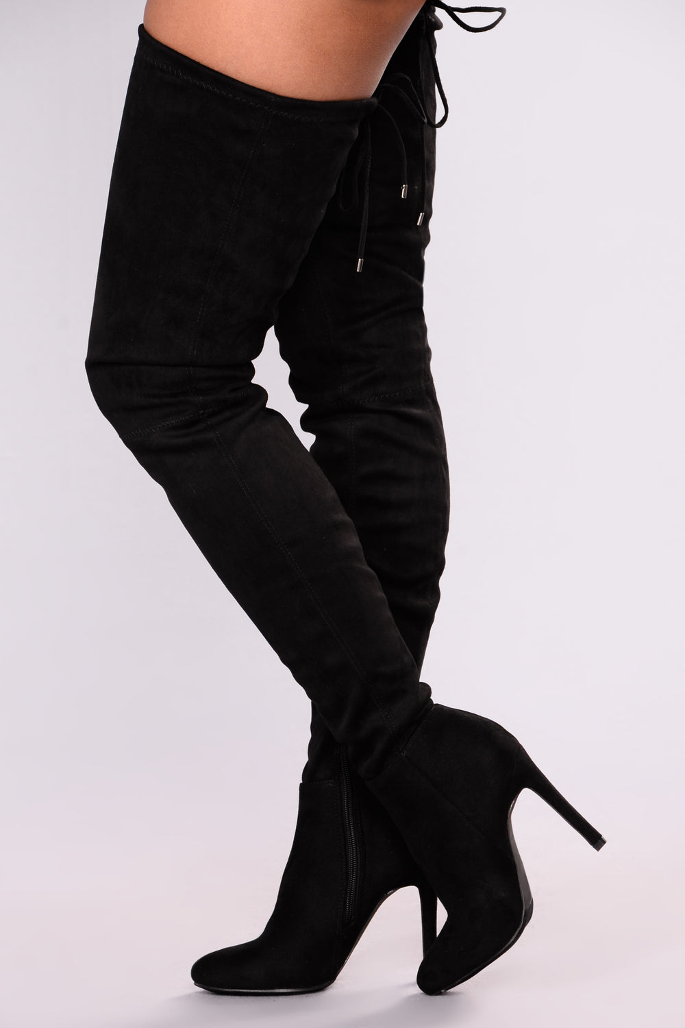 A Tall Tale Over The Knee Boot - Black
