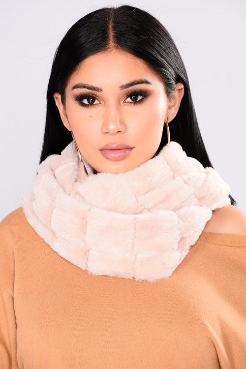 Winter Baby Fur Infinity Scarf - Ivory