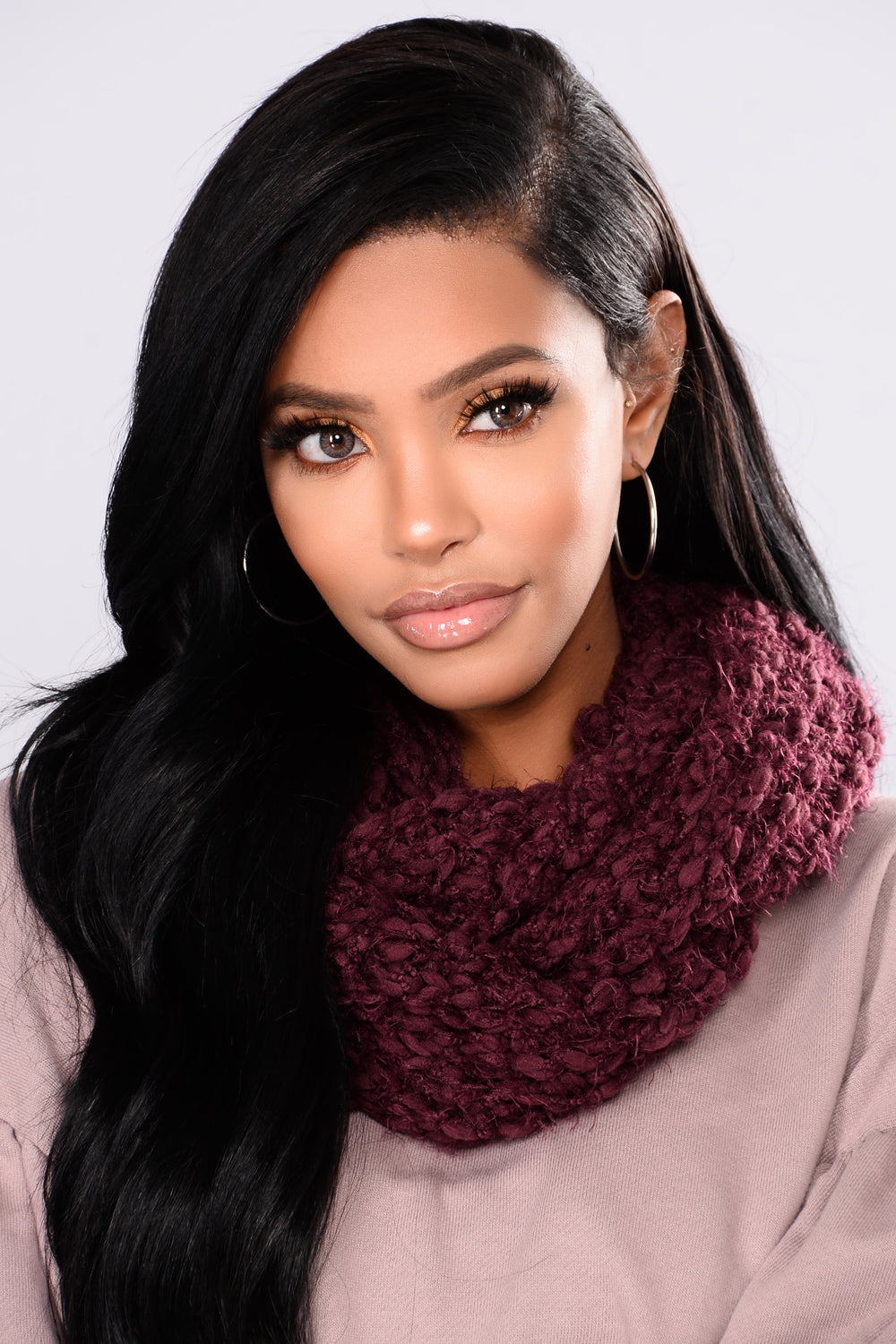Fall Forward Scarf - Burgundy