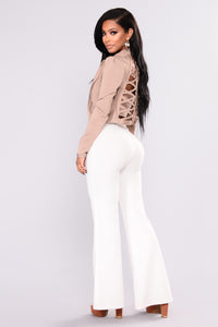Rolyn Bandage Jacket - Almond
