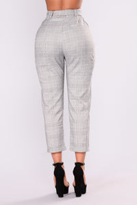 Check Me Out Crop Pants - Grey