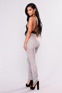 Becca Plaid Pants - Black/Red