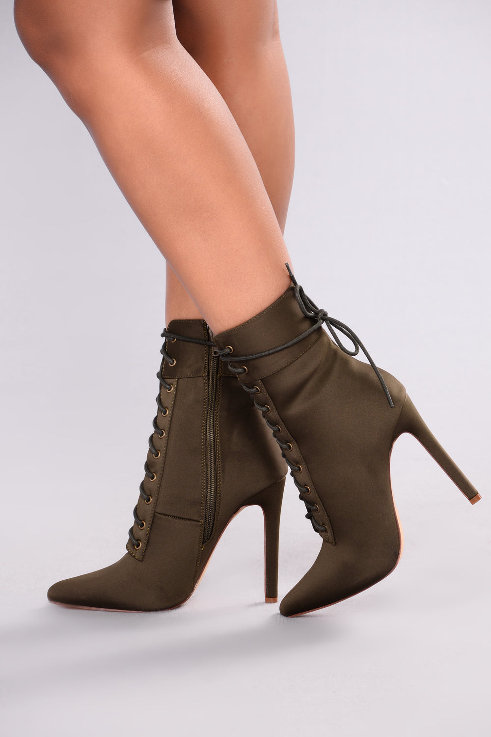 Shine Bright Booties - Olive