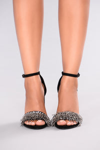 Beaded Beauty Heel - Black