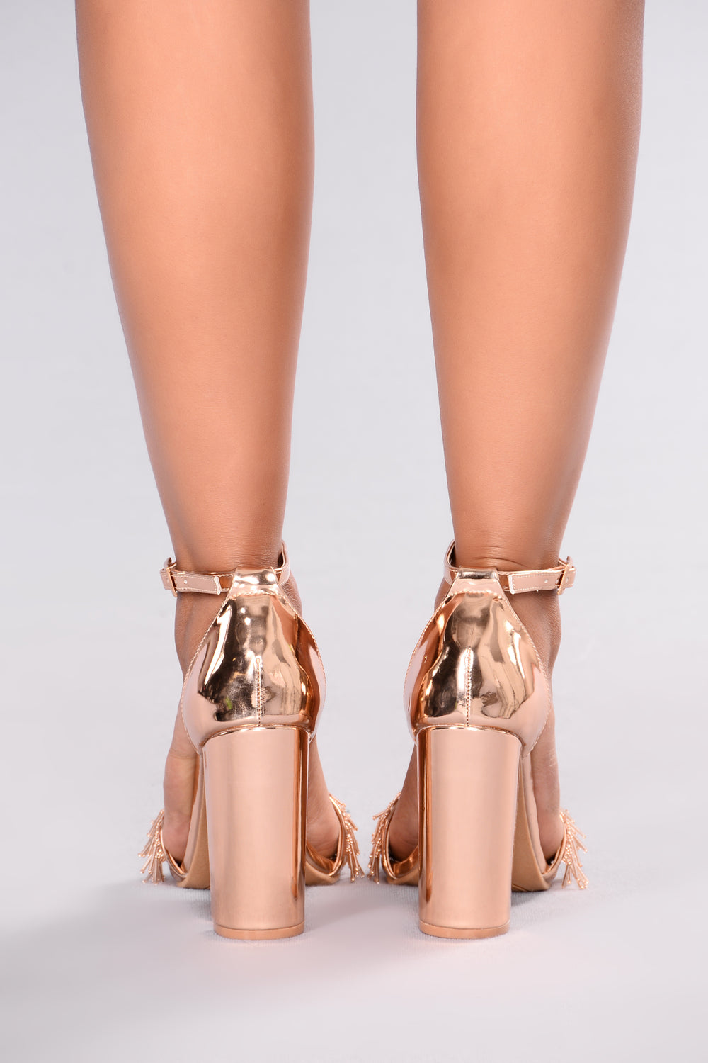 Beaded Beauty Heel - Rose Gold