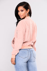 Lets Do It Again Corduroy Bomber - Rose