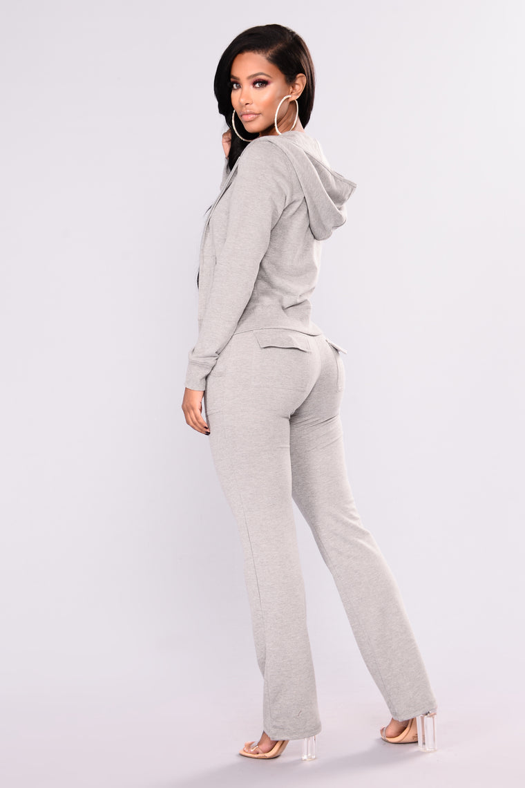 Easy Breezy Lounge Set - Heather Grey