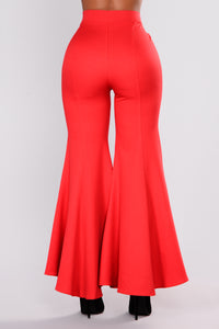 Ride The Wave Flare Pant - Red