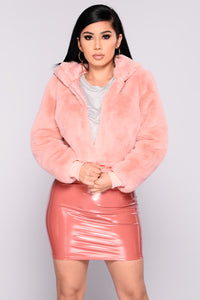 Fairest Faux Of Them All Jacket - Mauve