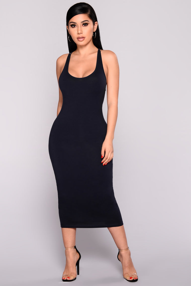 Plain Jane Dress - Navy