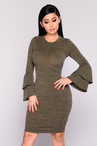 New England Knit Dress - Olive