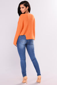Salrose Lace Up Sweater - Rust