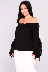 Oriana Off Shoulder Top - Black