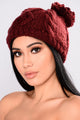 Autumn All Around Me Beanie - Burgundy