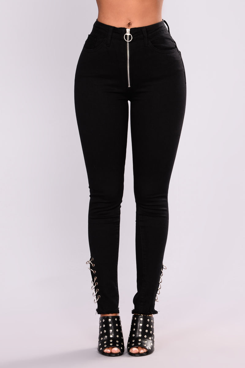 Abree High Rise Jeans - Black