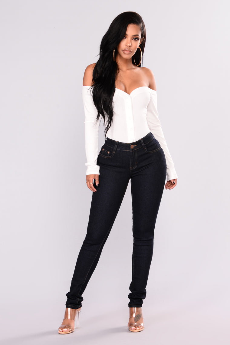 Go On Skinny Jeans - Dark Denim