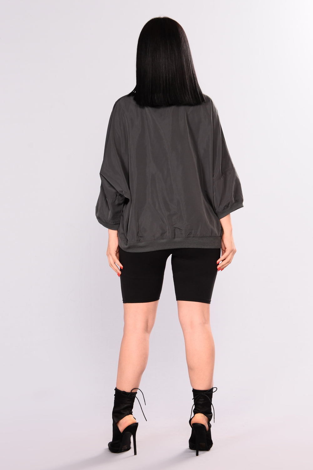 Baddie 1 Top - Charcoal