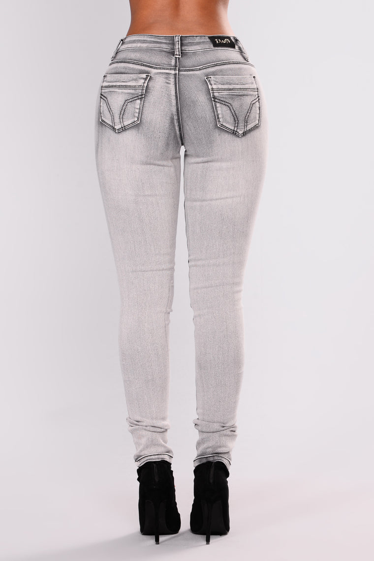 Dont You Forget About Me Skinny Jeans - Grey