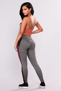 Rylee Active Leggings - Wine