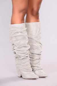 Glammed Out Boot - Silver Angle 3