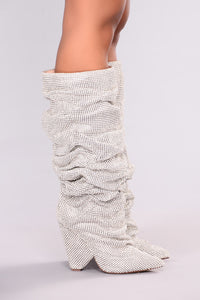 Glammed Out Boot - Silver Angle 5