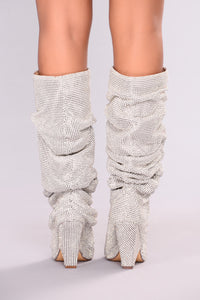 Glammed Out Boot - Silver Angle 6