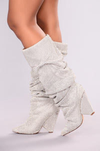 Glammed Out Boot - Silver Angle 2
