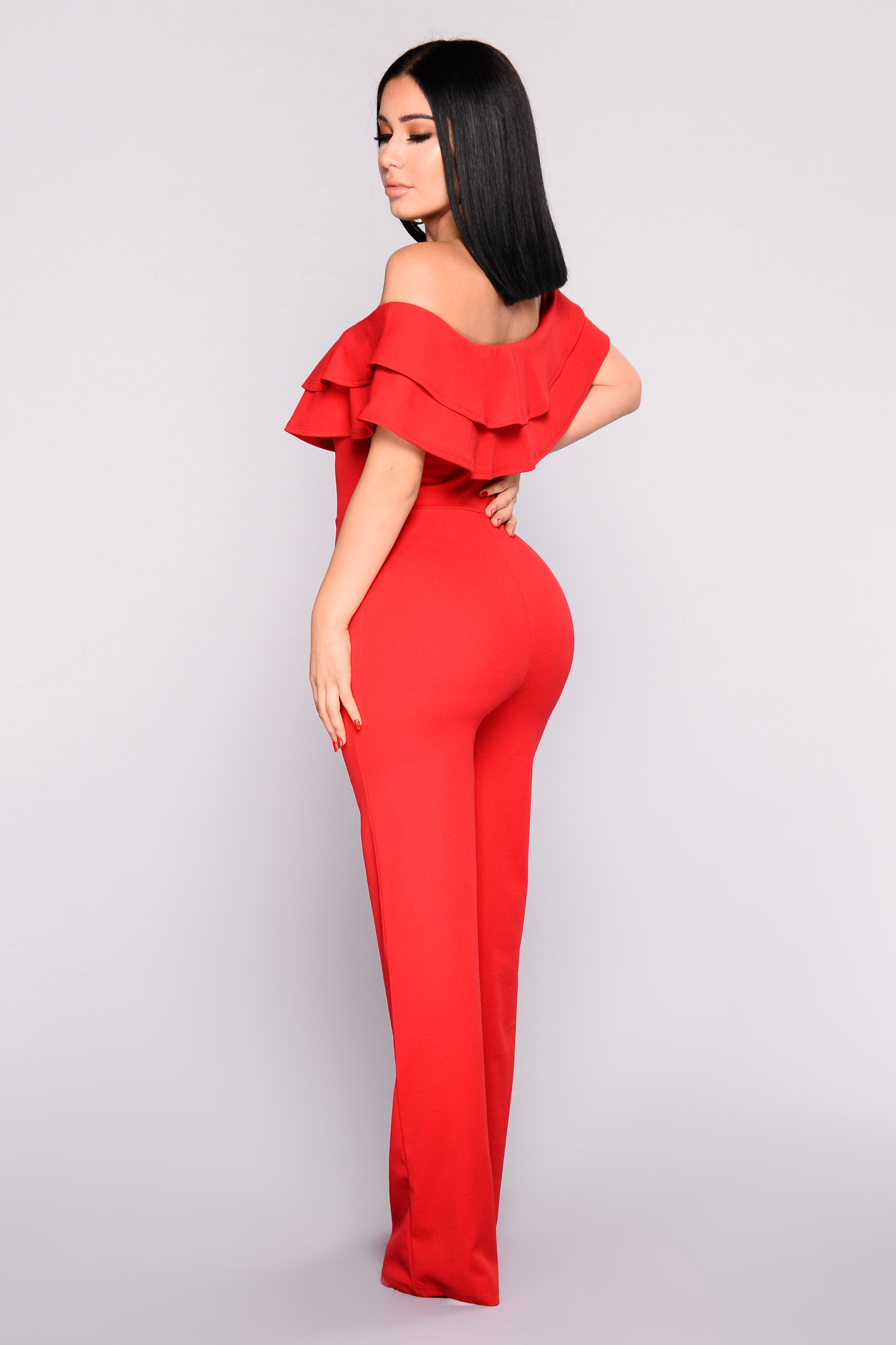 10a2ddd04b8 Ready To Ruffle Jumpsuit - Red