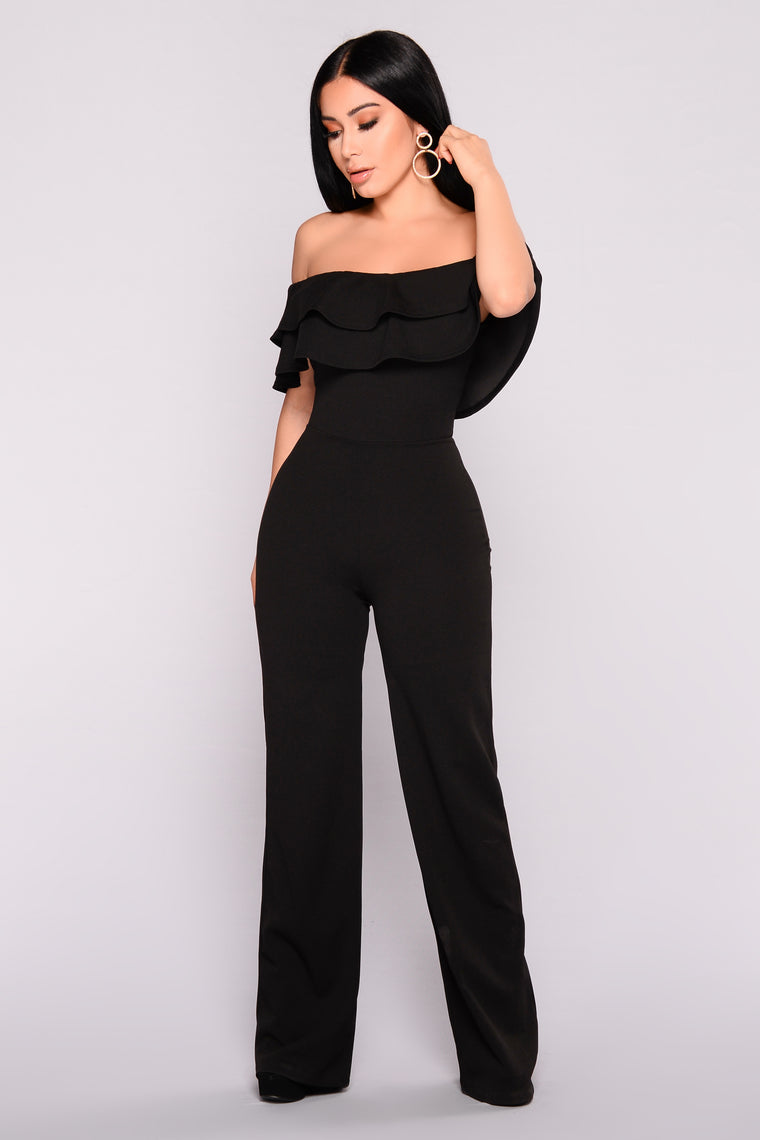 70aa2f97 Ready To Ruffle Jumpsuit - Black