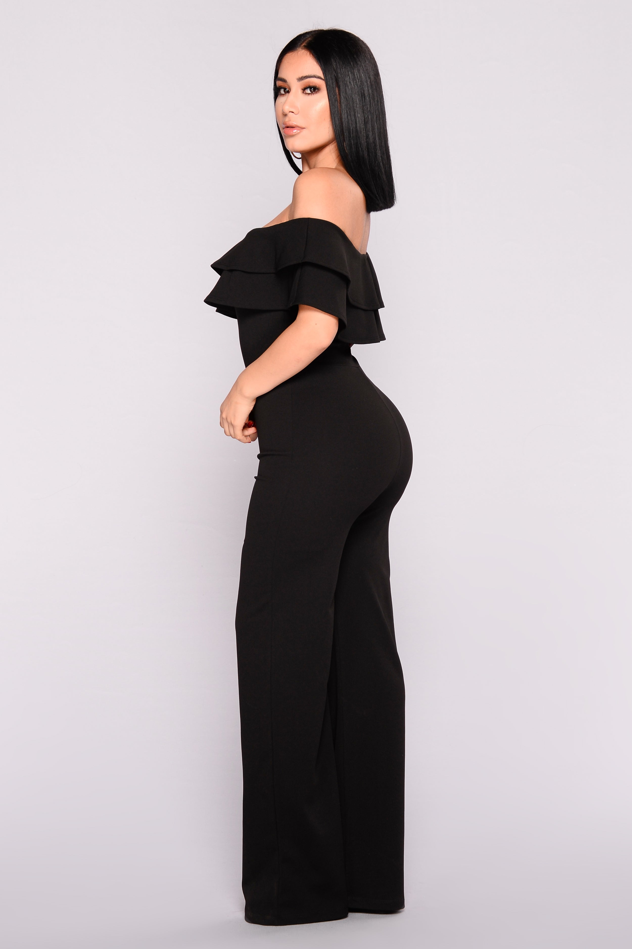 a3c717204bc7 Ready To Ruffle Jumpsuit - Black