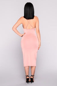 Virginie Midi Dress - Mauve