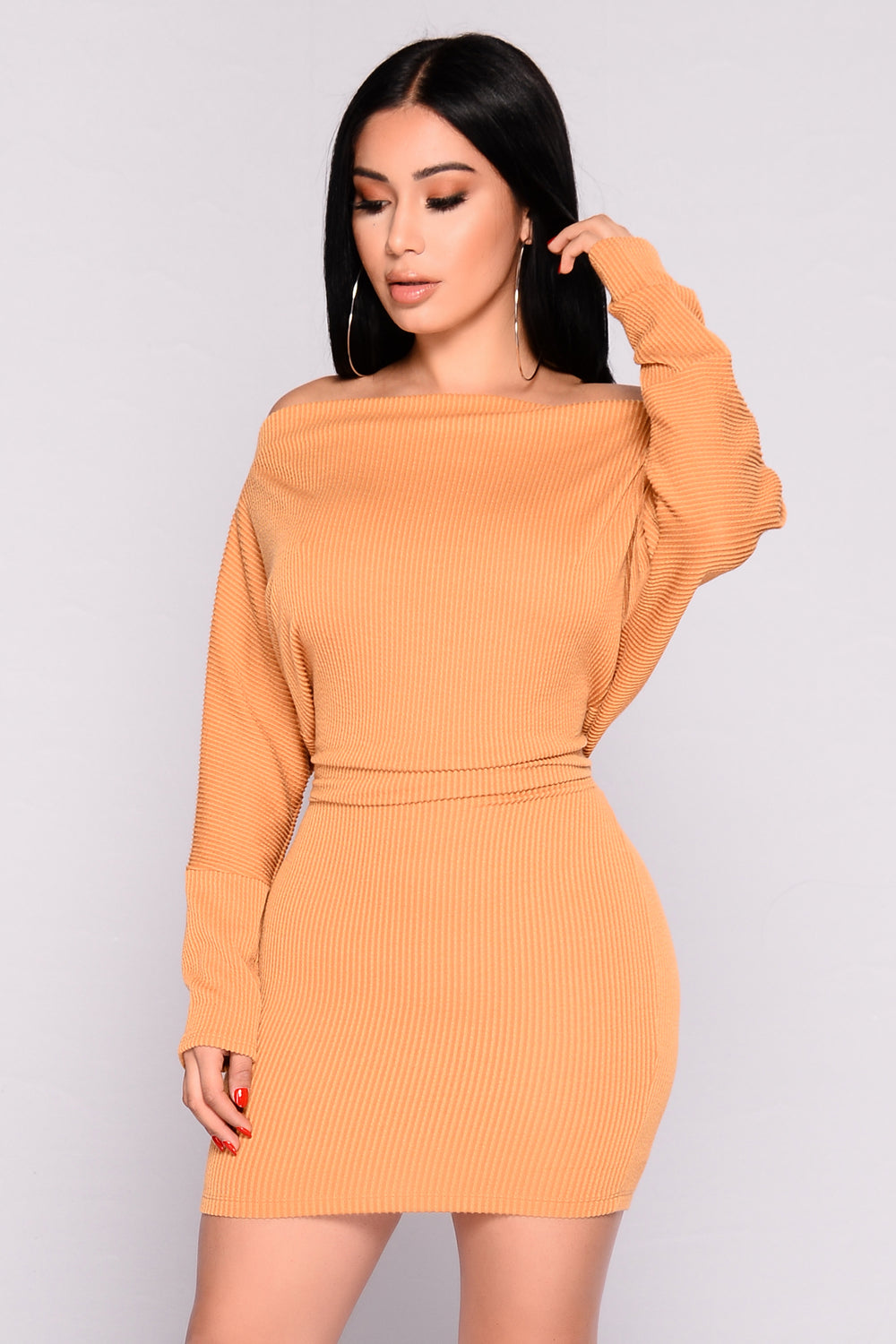 Dolman Daze Mini Dress - Mustard