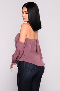 Koko Off The Shoulder Top - Plum