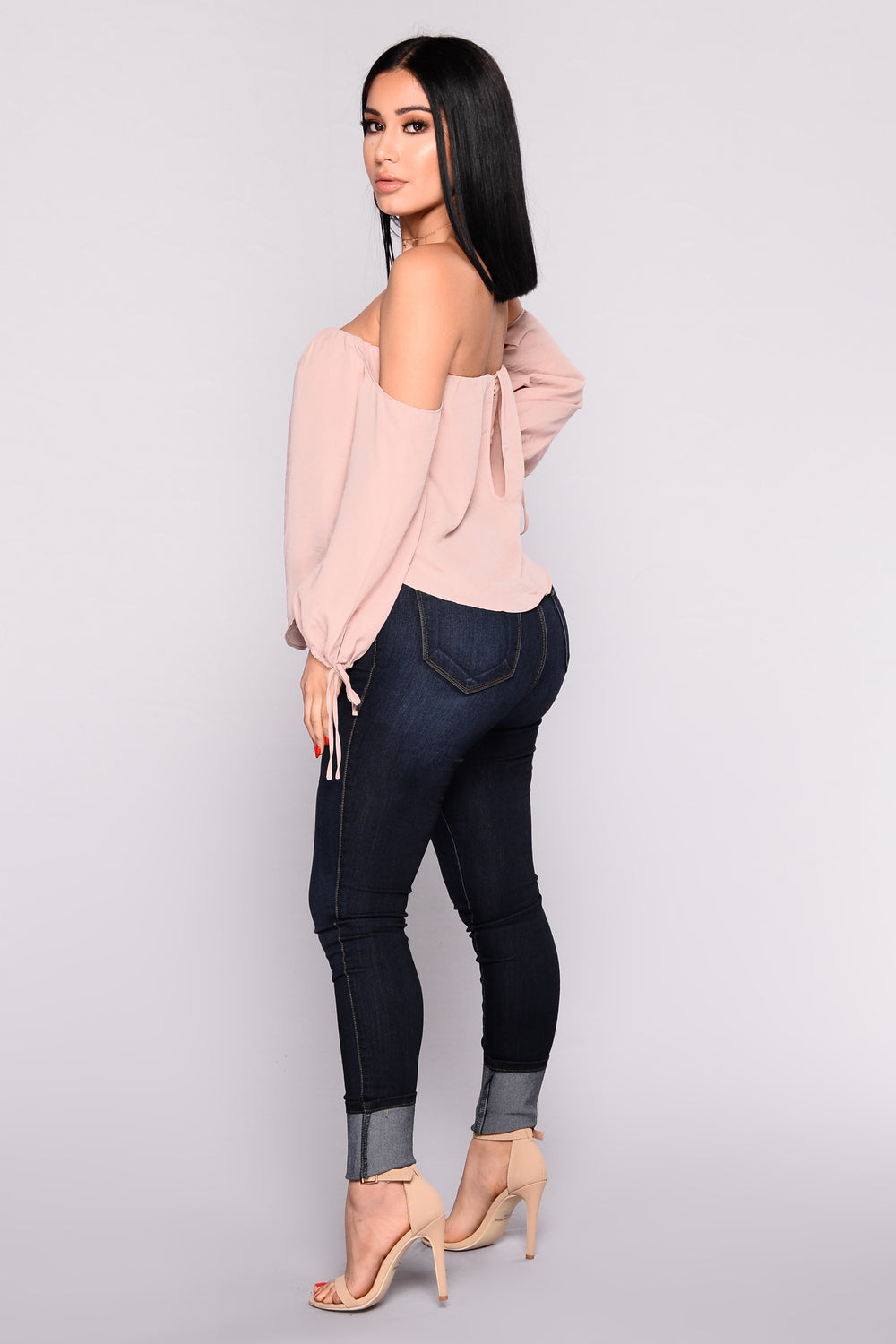 Koko Off The Shoulder Top - Champagne