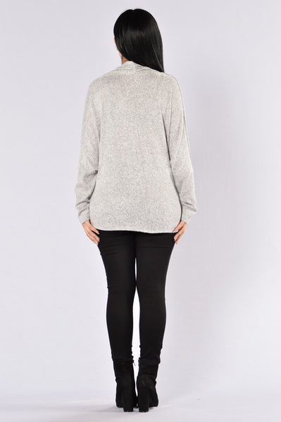 Begin Again Top - Heather Grey