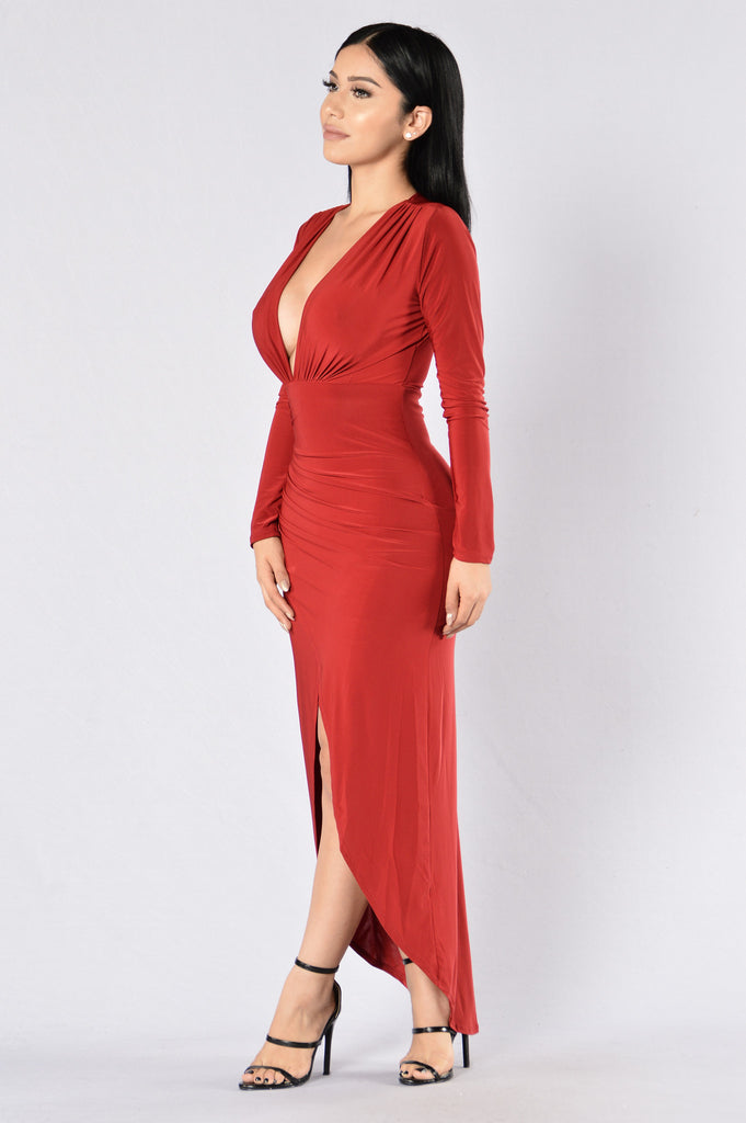 One Last Dance Dress - Dark Red