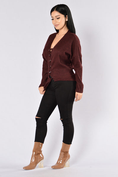 Your Favorite Thing Sweater - Burgundy