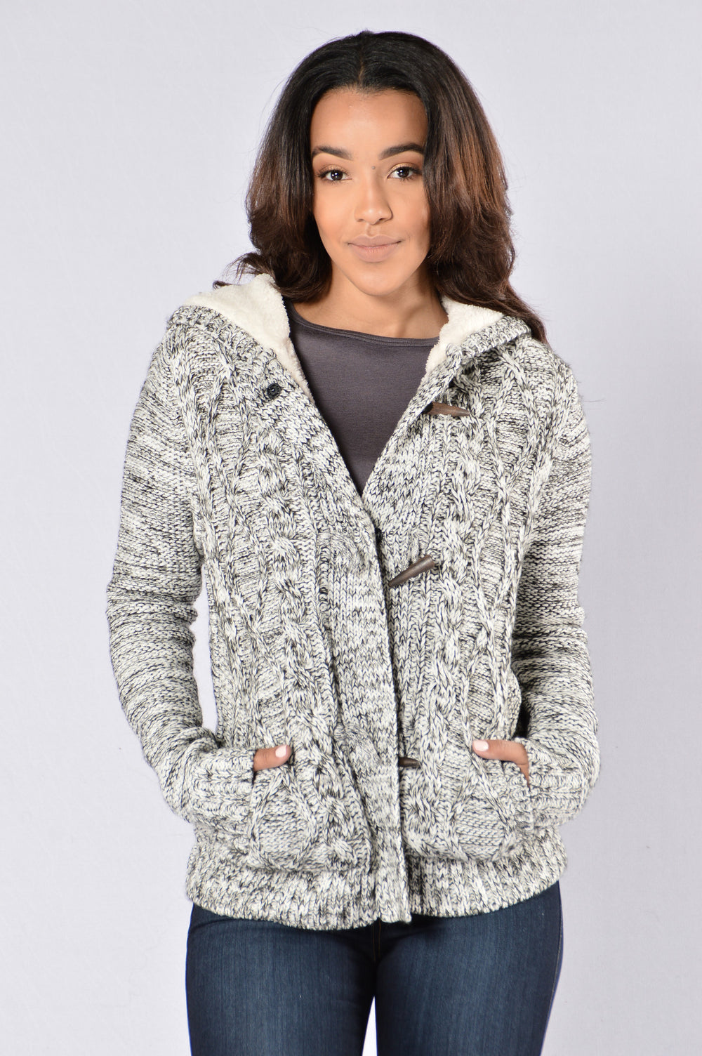 Feel My Warmth Jacket - Black/Ivory