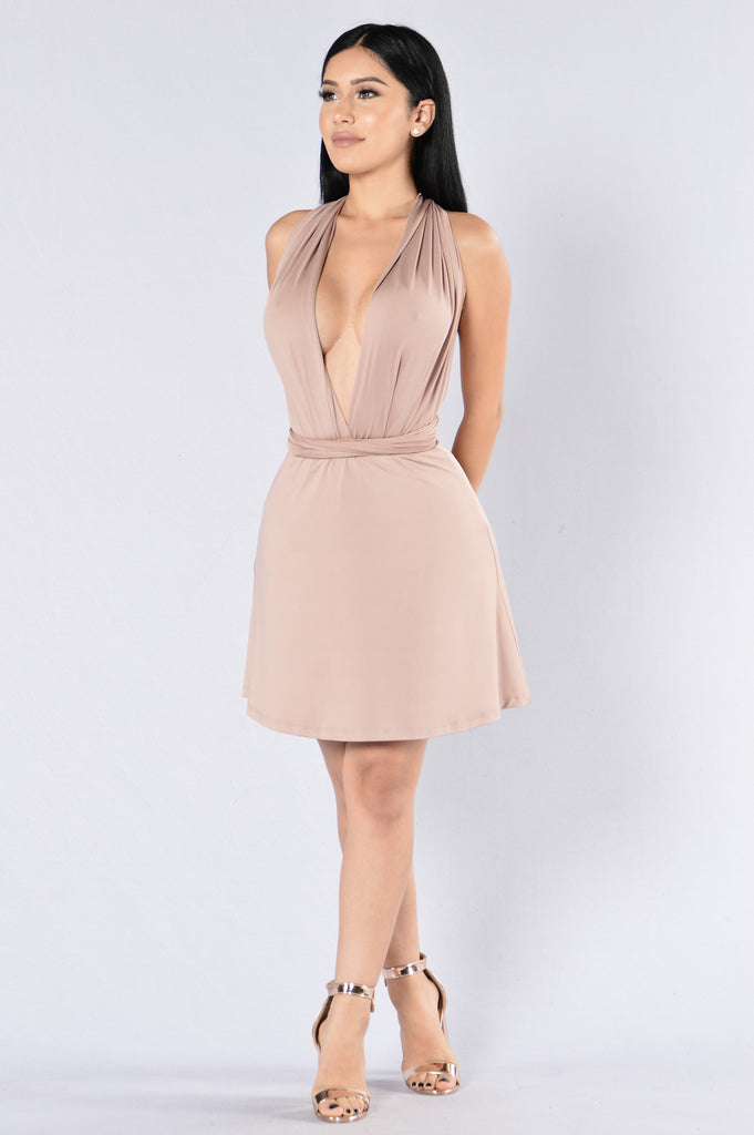 Early In The Morning Dress - Taupe