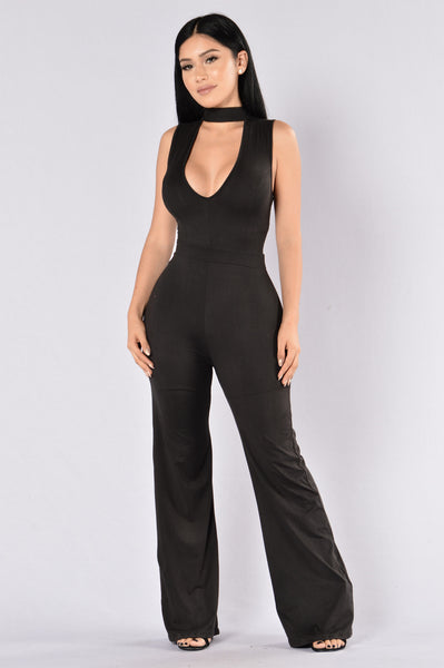 Sophisticated Lady Jumpsuit - Black