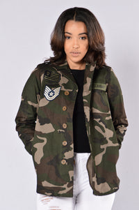 All Camo Everything Oversized Jacket - Camo