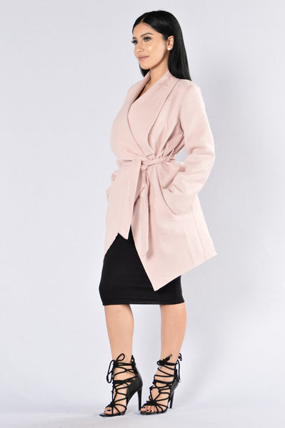 Manhattan Coat - Dusty Rose
