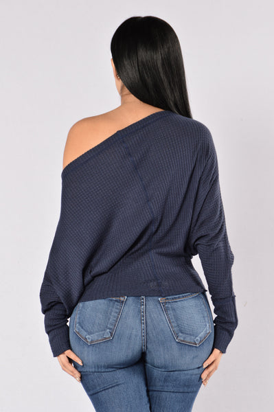 Off With His Head Sweater - Navy